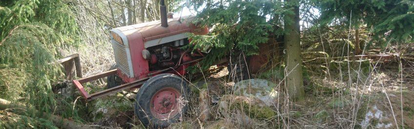 Hauhalan hanhifarmi - Traktori puskassa